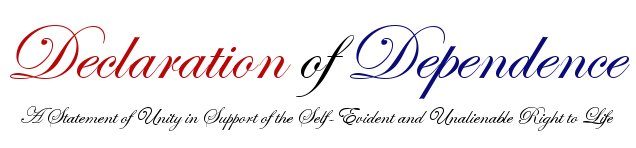 Declaration of Dependence Logo